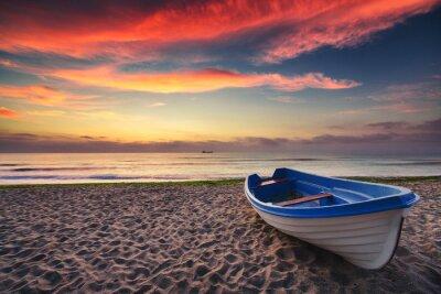 Quadro Barche e l'alba
