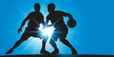 Quadro Basket - Dribble - rayons lumineux