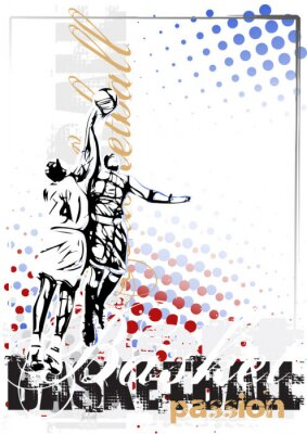 Quadro basketball vector poster background
