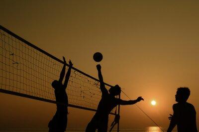 Quadro Beach volley silhouette