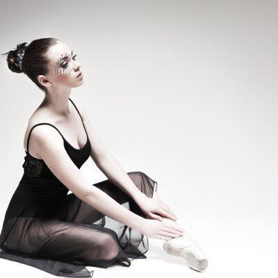 Quadro Beautiful ballet-dancer, stile moderno ballerino posano sullo studio