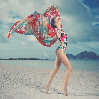Quadro Bella donna sulla spiaggia