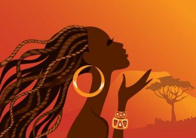Quadro Bella donna woman.African nero.