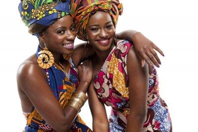 Quadro Bella modesl moda africana in abito tradizionale.