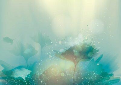 Quadro Bellissimo paesaggio astratto / Magico sfondo floreale