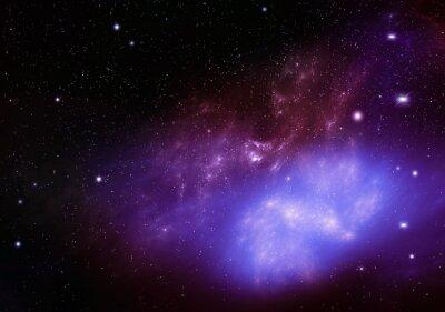 Quadro bellissimo sfondo del cielo notturno spazio profondo