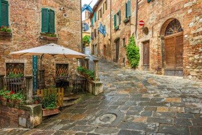 Quadro Bello vicolo a Montepulciano, Toscana, Italia