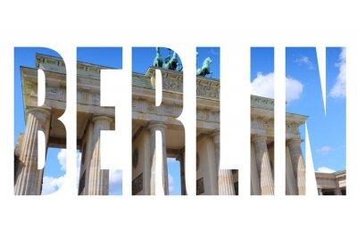 Quadro Berlin nome della città