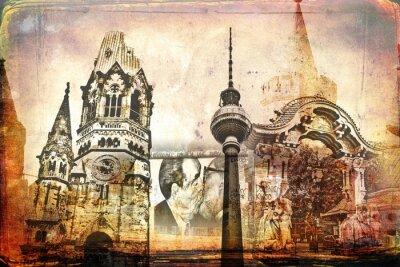 Quadro Berlino design illustrazione