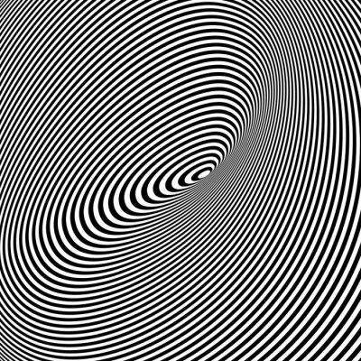 Quadro Bianco e nero Opt Art Background