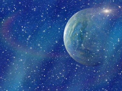 Quadro bianco lampo di spazio pianeta. COSMOS cielo sfondi