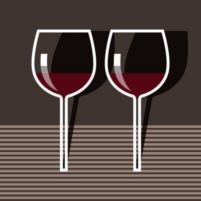 Quadro Bicchieri da vino