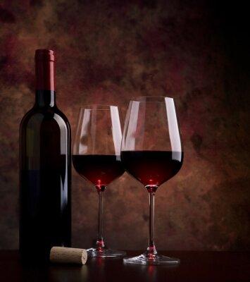 Quadro bicchieri di vino sul tavolo