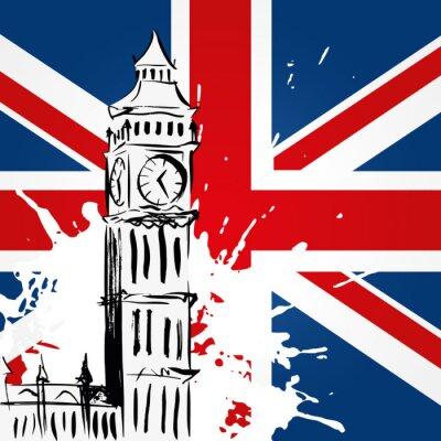 Quadro Big Ben devant l'Union Jack