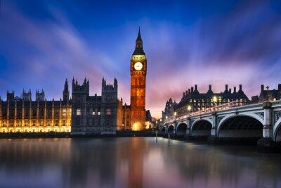 Quadro Big Ben e Camera del Parlamento