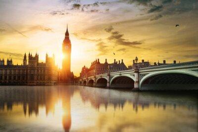 Quadro Big Ben e House of Parliament