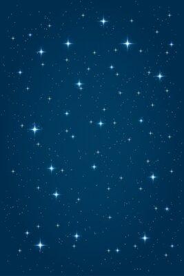 Quadro blu notte sfondo stellato. Vector modello di progettazione in verticale