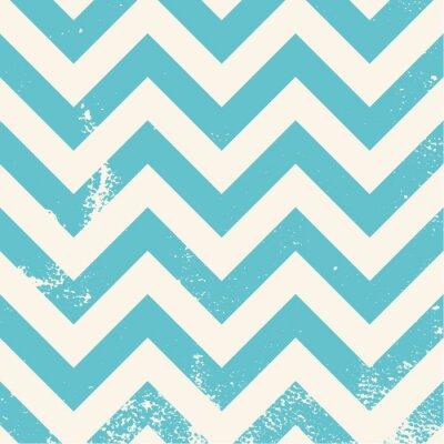 Quadro blue chevron pattern with distressed texture