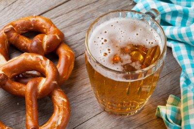 Quadro Boccale di birra e pretzel