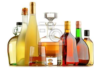 Quadro Bottiglie di bevande alcoliche assortite