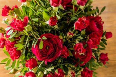 Quadro bouquet di rose rosse