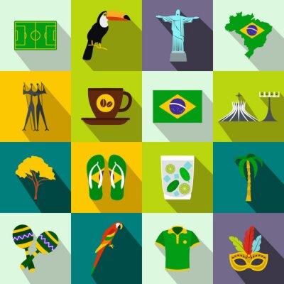 Quadro Brasile icone piane