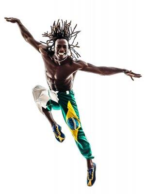Quadro brasiliano uomo nero ballare ballerino salto silhouette