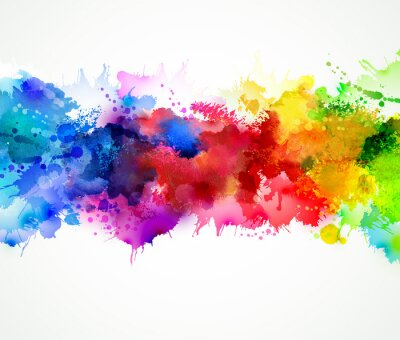 Quadro Bright watercolor stains