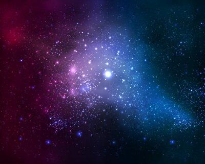 Quadro brillante galassia sfocata