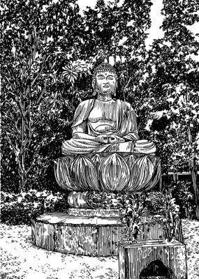 Quadro Buddha di pietra