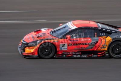 Quadro Burirum, Thailandia - 21 giugno: Kosuke Matsuura di Autobacs RACING TEAM Aguri in Super GT gara 66 giri a 2015 Autobacs SUPER GT Round 3 Buriram SUPER GT RACE il 21 giugno 2015 a Burirum, Thailandia.