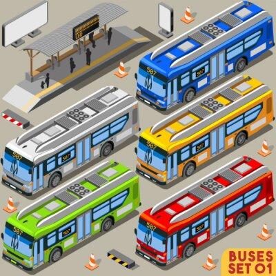 Quadro Bus Set 01 veicoli isometrica