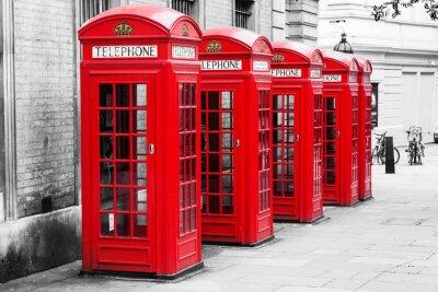 Quadro Cabine telefoniche a Londra nel metodo chiave Colore