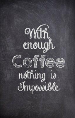 Quadro Caffè un'offerta scritta con il gesso su una lavagna