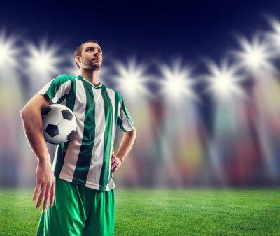 Quadro Calcio-giocatore con la palla