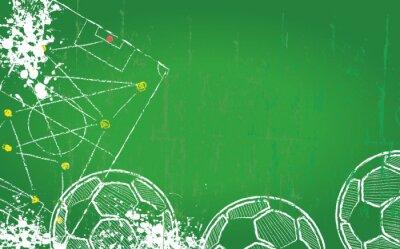 Quadro Calcio modello di progettazione / Calcio, copia spazio libero, vettore