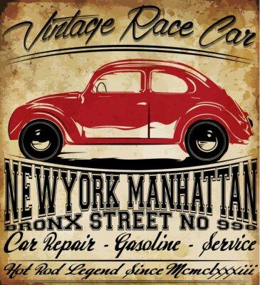 Quadro camicia vecchie auto d'epoca Classic Retro uomo T Graphic Design