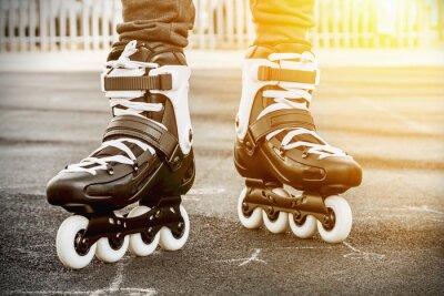 Quadro camminare su pattini a rotelle per il pattinaggio