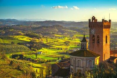 Quadro Campanile di San Miniato della cattedrale. Pisa, Toscana Italia Europa.
