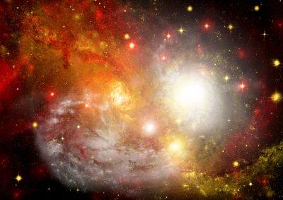 Quadro Campo della stella nello spazio e una nebulosa