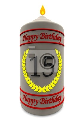 Candela Di Compleanno 15 Anni Dipinti Da Parete Quadri Buona