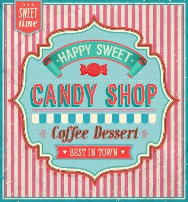 Quadro Candy shop - illustrazione vettoriale