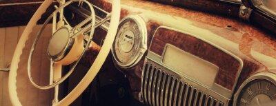 Quadro Car dashboard epoca (frammento)