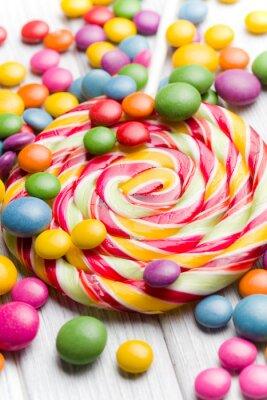 Quadro caramelle colorate e lecca-lecca