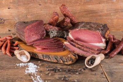 Quadro carni affumicate e salsicce