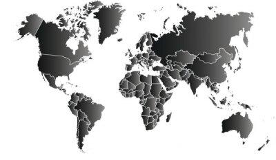 Quadro Carte du monde 06072015