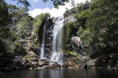 Quadro Cascada grande con abundante agua en el medio de una foresta. Cooktown, Queensland, Australia