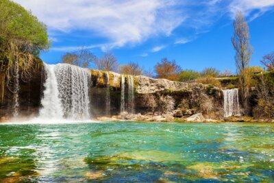 Quadro Cascate del fiume Jerea a Pedrosa de Tobalina, in provincia di Burgos, in Spagna