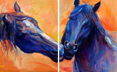 Quadro Cavalli azzurri