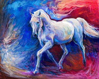 Quadro Cavallo azzurro